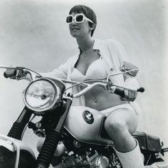 #motorcycle #vintage #woman #rider