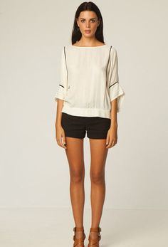 Astrid Top in Cream by Bird & Kite | New at The Freedom State |