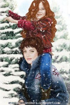 Alice and Renesmee Cullen fanart