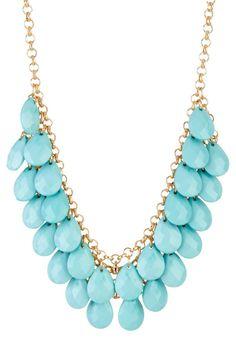 t+j Designs Turquoise Teardrop Necklace