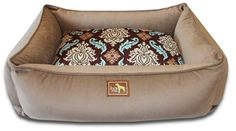 Luca Lounge Dog Bed - Cocoa/Windsor