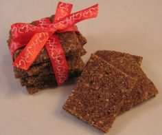 Cheesy Flax Squares  - my dog loves these and has a healthy coat as a result!