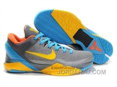 e8557f8437d4 Air Foamposite Nike Zoom Kobe 7 Cool Grey Glass Blue Yellow Orange  Nike  Zoom Kobe 7 - The Nike Zoom Kobe 7 Cool Grey Glass Blue Yellow Orange shoe  features ...