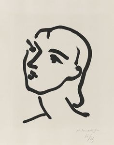 Henri Matisse - Nadia aux cheveux lisses, Etching and aquatint