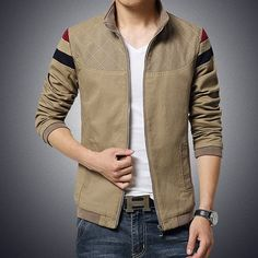 2015 New Fashion Brand Jacket Men Trend Patchwork Korean Slim Fit Mens  Designer Clothes Cotoon Men e825b100dea0