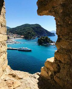 Parga~Epirus~Greece Greece Travel, Italy Travel, Greece Tourist Attractions, Wonderful Places, Beautiful Places, Greek Beauty, Travel Aesthetic, Nature Photos, Sailing