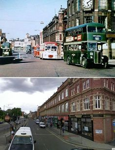North street Leeds then and now Leeds England, Yorkshire England, West Yorkshire, England Uk, Old Pictures, Old Photos, Leeds City, My Town, Beautiful Places