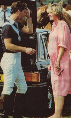 June 4, 1982 - Prince Charles Princess Diana at a polo match at Smith's Lawn, Windsor