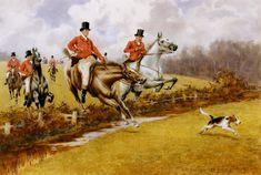 vintage fox hunting paintings, prints, photographs, etc.