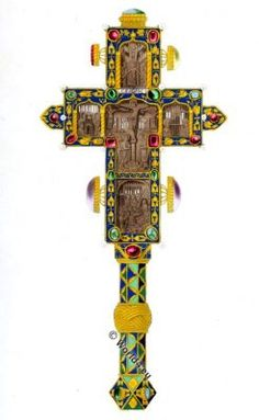 Byzantine Cross from Monastery of Caracalla, Mount Athos.