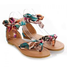 Bohemia Print and Flip-Flop Design Sandals For Women