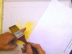 Данная техника довольно простая. Просто наберите на кисть краску и начните постукивать щетиной кисти по пальцу так, чтобы брызги хаотично разлетались
