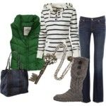 Stylin in flare jeans - Polyvore
