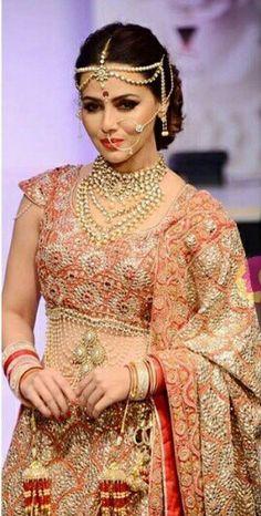 Sana khan in a bridal look