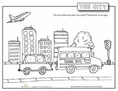 English worksheet: My City/ Places in my Neighborhood ( 2