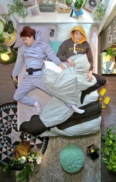 Haha, do they really sleep like this? XD :D