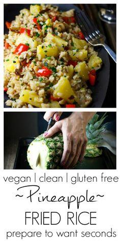 Pineapple Fried Rice |#vegan #clean #glutenfree