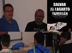 "D. Moisés Morán Vega, autor del libro ""Salvar al lagarto Tamarán"", visita el IES Schamann"