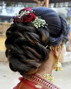 32 Ideas For Hair Updos Side Braid Plaits - Modern Plaits Hairstyles, Indian Wedding Hairstyles, Bride Hairstyles, Easy Hairstyles, Updos, African Hairstyles, Hairstyle Ideas, Hair Ideas, Bridal Hair Buns