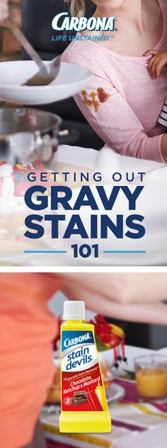 The best part of Easter dinner? The gravy, of course! Just not when it takes a spill straight onto your best top… Remove it with Stain Devils #2.