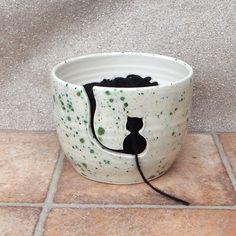 Yarn bowl ....knitting or crochet ....hand thrown pottery