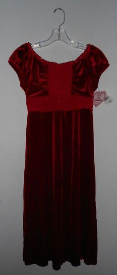 MY MICHELLE ~ Beautiful NWT   Red Velvet Dress with sparkle sash tie size  16   3222e4814e38