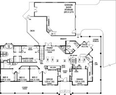 Single Floor House Plans 4 bedroom single storey house plans google search guest bdrm as a study Single Story Farmhouse Perfect Square Footage Not Too Big