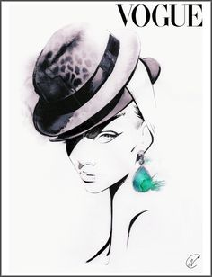 Nuno DaCosta is a black and white illustrator specialized in fashion illustrations Croquis Fashion, Fashion Sketches, Fashion Illustrations, Fashion Face, Fashion Beauty, Work Fashion, People Illustration, Illustration Art, Vogue Magazine Covers
