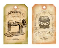 Vintage Shabby Chic Dress form Sewing machine Buttons thread Clothes pin Gift Price Tags Paris ACEO Cards Digital Collage Sheet Images Sh137. $3.99, via Etsy.