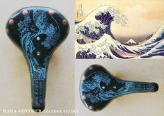 Kara Ginther hand carved saddles