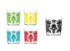 Ania Tumblers. Polish folk art paper cut looking glasses.