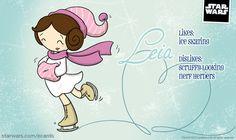 Wintertime: Leia Likes and Dislikes - Star Wars eCards | StarWars.com