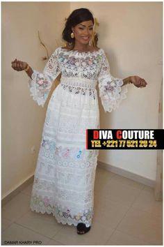 African ce Dashiki d/'brodé Poli Blanc robe de coton Taille-UK10 12,14,16,18