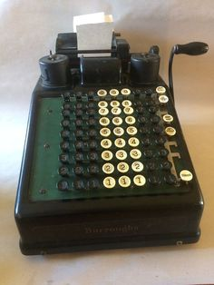 Burroughs Adding Machine Vintage 1920s Portable Accounting Pre Calculator #Burroughs