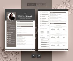 Modern Resume Template Julianna by AdeevaResume on Creative Market . Business Brochure, Business Card Logo, Business Design, Corporate Business, Cv Cover Letter, Cover Letter Template, Letter Templates, Cover Letters, Design Social