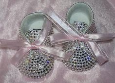 Baby Bling Shoes : Rhinestone Baby. Now these are what u can call cute lil booties, why is it that parents have zero sense of fashion sense when it comes to dressing their kids i mean seriously my old pictures show a girl in poofy dresses and cartoon socks.. no wonder i hide them :-/ you can make your child into the perfect little clone, cute yet smart :-D