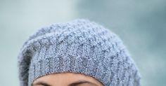 Découvrez notre modèle gratuit pour tricoter un bonnet en jersey et côtes brisées! Marie Claire, Beret, Knitted Hats, Winter Hats, Couture, Knitting, Pulls, Turban, Point