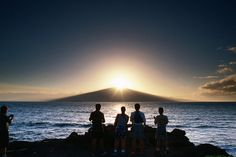 Twice a year the sun rises over Haleakala Crater, the 'House of the Sun' in Hawaiian legend.