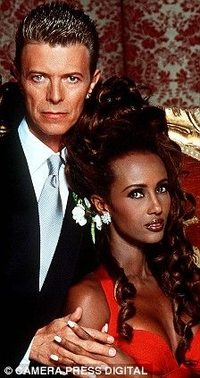 David Bowie and Iman, 1992