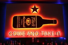 Bar sign over the new big Emo's by Blackout Signs