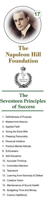 The Napoleon Hill Foundation's 17 Success Principles: