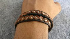 Double Wrap Leather Bracelet for men mens jewllery handmade