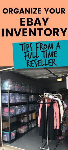 Tips from a full time ebay seller on how to organize your inventory #ebayseller #reseller