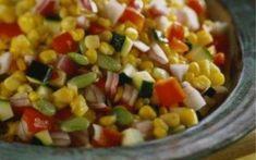 Σαλάτα με καλαμπόκι και τόνο Vegetables, Food, Veggies, Essen, Vegetable Recipes, Yemek, Meals