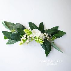 A pop of hops and peonies give this eucalyptus hair comb a romantic garden vibe.  Silk wedding hair comb available to order from Kate Said Yes Weddings.  #weddingday #bride #weddinginspiration #weddingideas #bridetobe #bohobride #greenerywedding #hairpiece #haircomb #weddinghair #bridalhair #bridalcomb #eucalyptus #katesaidyesweddings #theperfectpalette #proguidevendor #etsyweddingteam #engaged #updo #weddinginspo #instawedding #weddings Boho Bridal Hair, Bridal Comb, Hair Comb Wedding, Wedding Schedule, Braids With Curls, Flowers In Hair, Bridesmaid Hair Flowers, Silk Wedding Bouquets, Bridesmaids