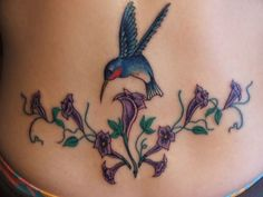 Hummingbird And Flower Tattoos | Hummingbird Tattoo