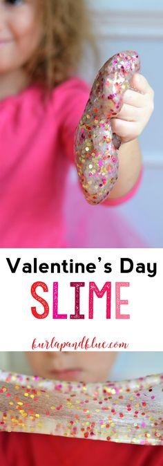 glue slime recipe   valentines day craft   kids craft   easy slime recipe   valentines day classroom project   confetti   valentines day slime  recipe
