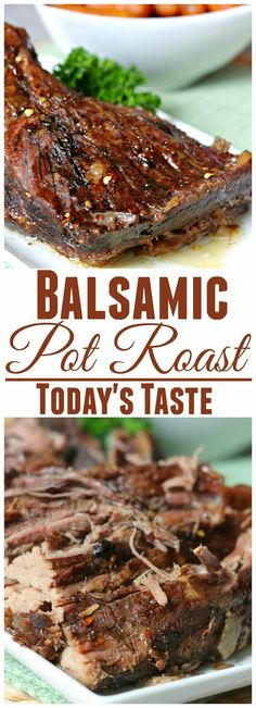 Slow Cooker Balsamic Pot Roast from TodaysTaste.com