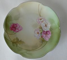 vintage plate dish German floral luncheon size by dizhasneatstuff, $12.00