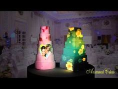 ANIMATED CAKES - Projection Mapping Birthday & Wedding Cakes (2015 Reel) - YouTube